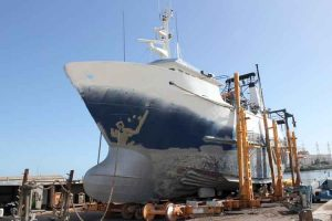 Adelaide boat and ship wet soda blasting