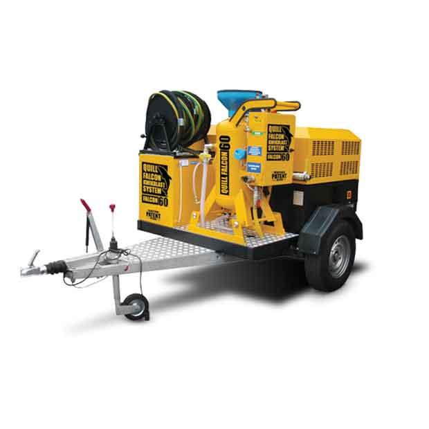 Adelaide blasting machine hire | Quill Falcon Kwikblast 60 litre trailer