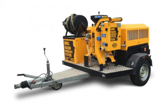 Quill Falcon Cyclone 60 Trailer Dustless Blasting Machines