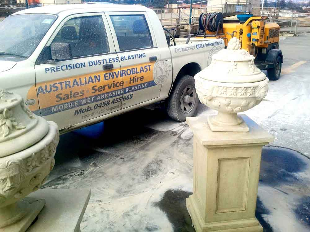 Portable wet blasting services Adelaide