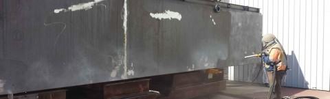 Onsite abrasive blasting services