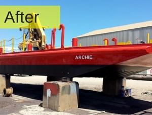 AEB | Adelaide Abrasive Blasting Gallery Barge Before