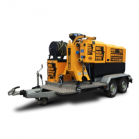 Quill Falcon Cyclone 120 Trailer Dustless Blasting Machines