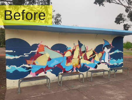 Graffiti Removal Using Grit Blasting