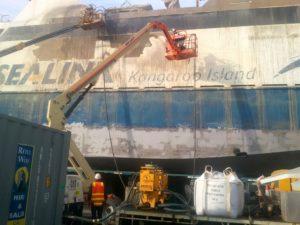 Abrasive Blasting Marine Ship Cleaning