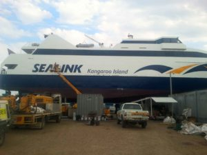 Boat Sandblast Cleaning